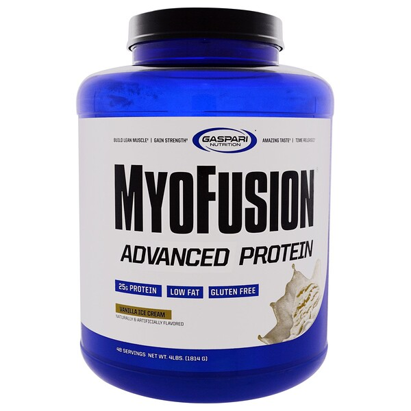 MyoFusion, Advanced Protein, Vanilla Ice Cream, 4 lbs (1814 g)