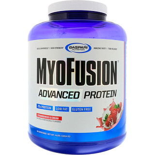 Gaspari Nutrition, MyoFusion, Advanced Protein, Strawberries & Cream, 4 lbs (1814 g)
