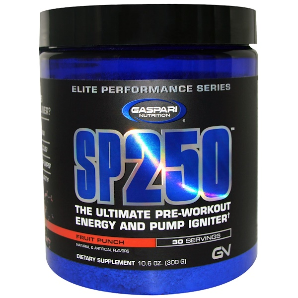 Gaspari Nutrition, SP250, Pre-Workout, Fruit Punch, 10.6 oz (300 g) (Discontinued Item)