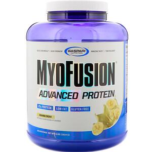 Гаспари Нутришэн, MyoFusion, Advanced Protein, Banana Cream, 4 lbs (1814 g) отзывы