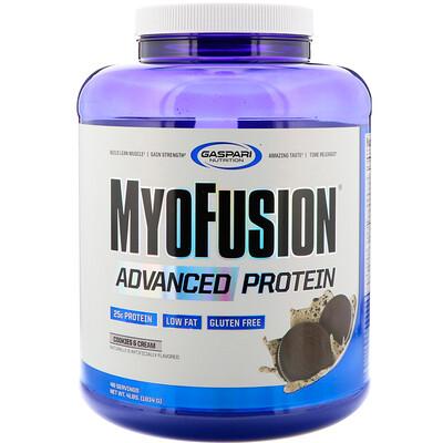 Купить Gaspari Nutrition MyoFusion Advanced, протеин, печенье и сливки, 1814 г (4 фунта)