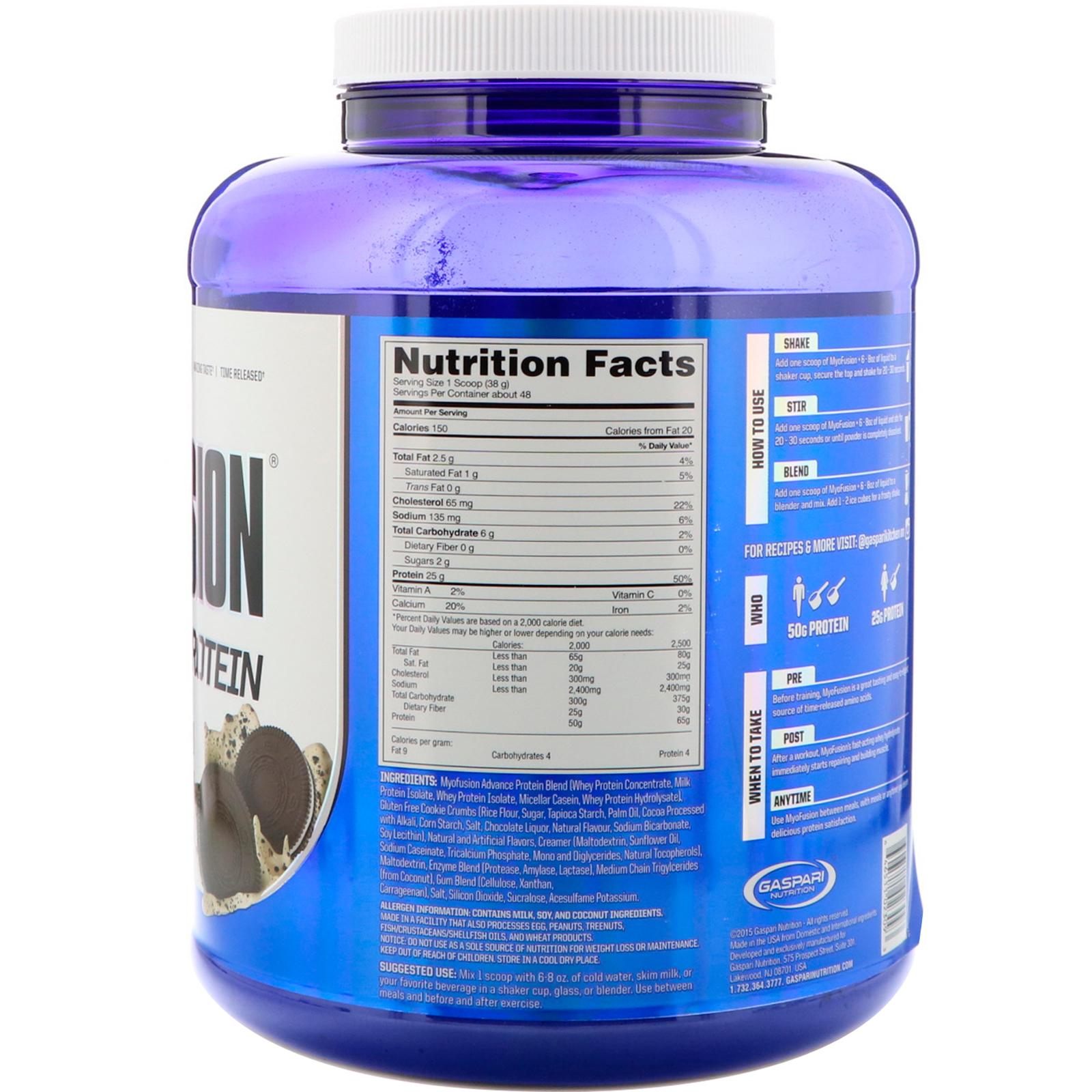 Gaspari Nutrition, MyoFusion, Advanced