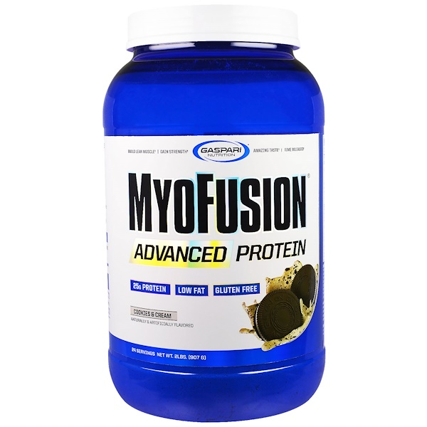 Gaspari Nutrition, MyoFusion, Advanced Protein, Cookies & Cream, 2 lbs (907 g) (Discontinued Item)
