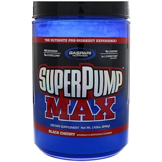 Gaspari Nutrition, SuperPump Max, The Ultimate Pre-Workout Experience, Black Cherry, 1.41 lbs (640 g)