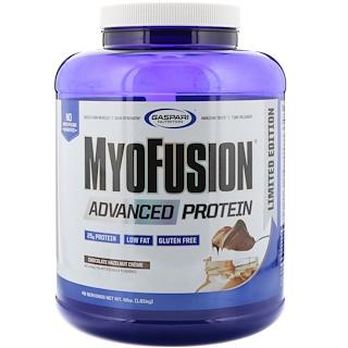 Gaspari Nutrition, MyoFusion, proteína avanzada, crema de chocolate y avellanas, 4 lb (1814 g)