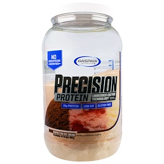 Gaspari Nutrition, プリシジョン・プロテイン、二オポリタン・アイスクリーム、2ポンド(907g)