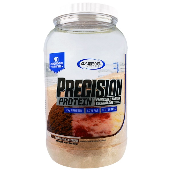 Gaspari Nutrition, Precision Protein, Neopolitan Ice Cream, 2 lbs (907 g) (Discontinued Item)