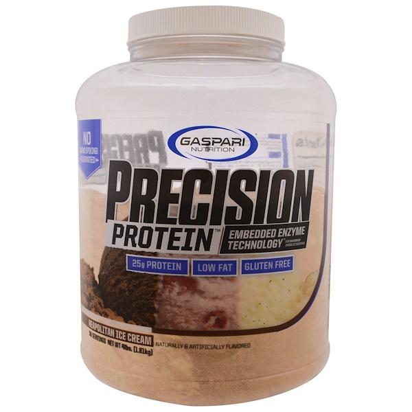 Gaspari Nutrition, プレシャスプロテイン, ナポリタンアイスクリーム, 4 lbs (1.81 kg) (Discontinued Item)