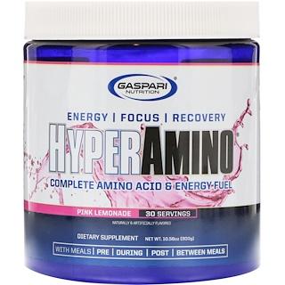 Gaspari Nutrition, HyperAmino, Pink Lemonade, 10.58 oz (300 g)