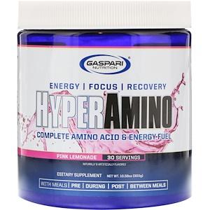Гаспари Нутришэн, HYPERAMINO, Complete Amino Acid & Energy Fuel, Pink Lemonade, 10.58 oz (300 g) отзывы