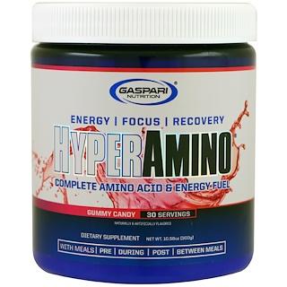 Gaspari Nutrition, Hyper Amino, Gummy Candy, 10.58 oz (300 g)