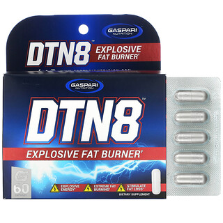 Gaspari Nutrition, DTN8, Explosive Fat Burner, 60 Capsules