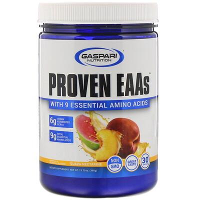 Купить Gaspari Nutrition Proven EAAs, с 9незаменимыми аминокислотами, со вкусом гуавы и нектарина, 390г (13, 75унций)