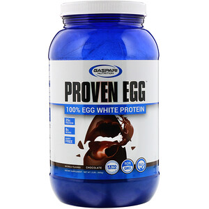 Gaspari Nutrition, Proven Egg, 100% Egg White Protein, Chocolate, 2 lb (900 g)'