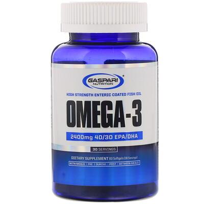 Купить Gaspari Nutrition Омега-3, 2400мг, 60мягких таблеток