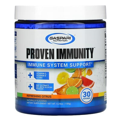 Gaspari Nutrition Proven Immunity, Immune System Support, Refreshing Citrus, 5.29 oz (150 g)