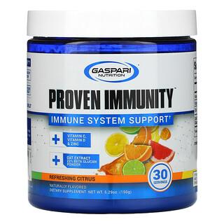 Gaspari Nutrition, Proven Immunity, Immune System Support, Refreshing Citrus, 5.29 oz (150 g)