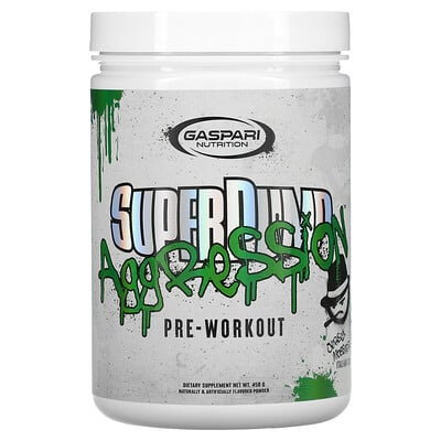 Купить Gaspari Nutrition SuperPump Aggression Pre-Workout, Jersey Mobster Italian Ice, 450 g