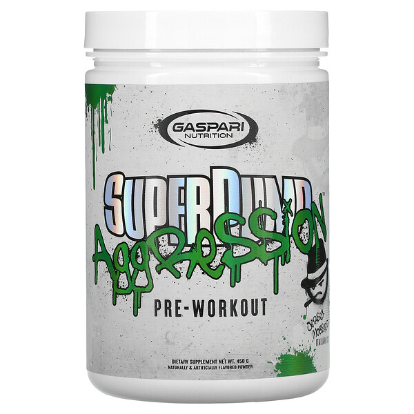 SuperPump Aggression Pre-Workout, Jersey Mobster Italian Ice, 450 g