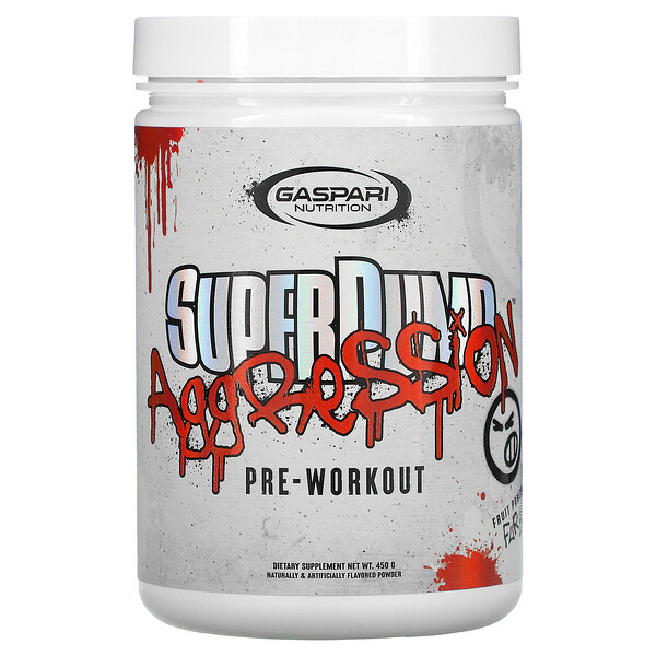 SuperPump Aggression Pre-Workout, Fruit Punch Fury, 450 g