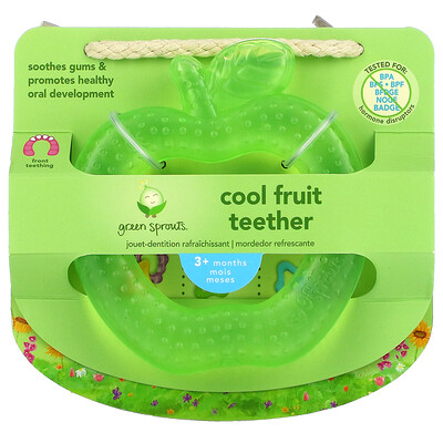 Купить Green Sprouts Cool Fruit Teether, 3+ Months, Green Apple, 1 Teether