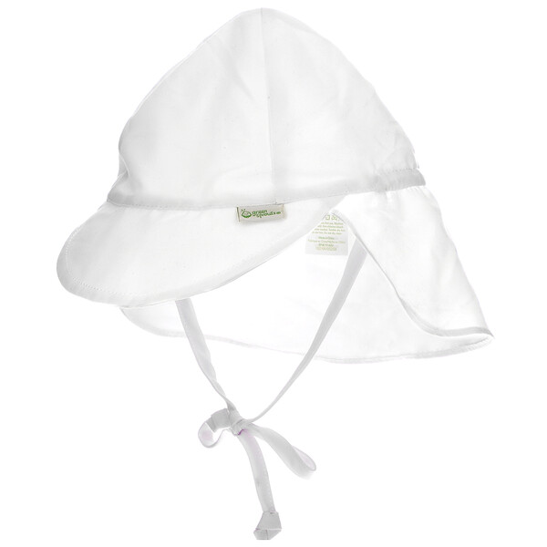 Sun Protection Hat, 0-6 Months, White, 1 Count