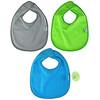 Green Sprouts, 防水围嘴,适用于 3-12 个月婴幼儿,湖绿色,10 件