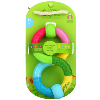 Green Sprouts, Infinity Rattle, 3+ Months, 1 Rattle
