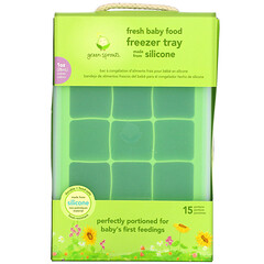Green Sprouts, Fresh Baby 嬰幼兒食品冷凍託盤,綠色,1 個裝