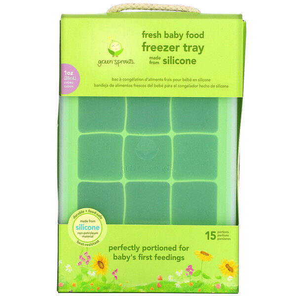 Fresh Baby Food Freezer Tray, Green, 1 Tray
