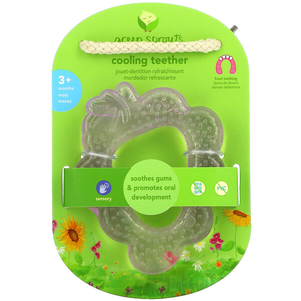 Green Sprouts, Cooling Teether, 3+ Months, Purple Grape, 1 Teether