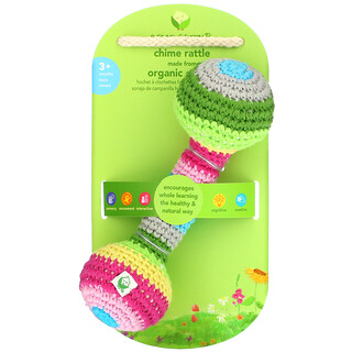 Green Sprouts, Chime Rattle, 3+ Months, 1 Rattle