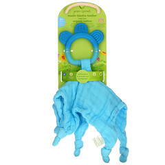 Green Sprouts, Muslin Blankie Teether, 3+ Months, Aqua