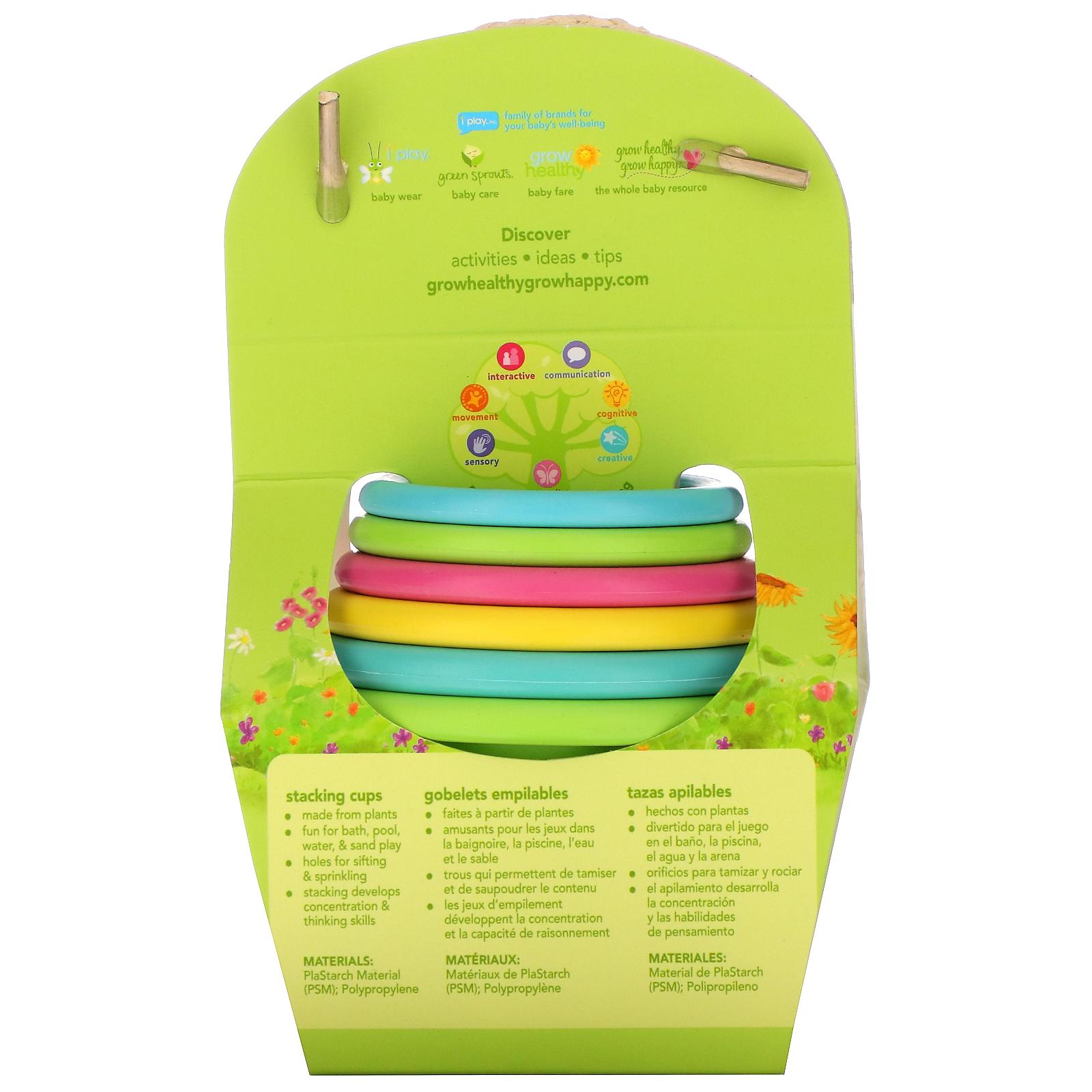 Green Sprouts cucharas 6/A 12/meses, Aqua, 2/unidades