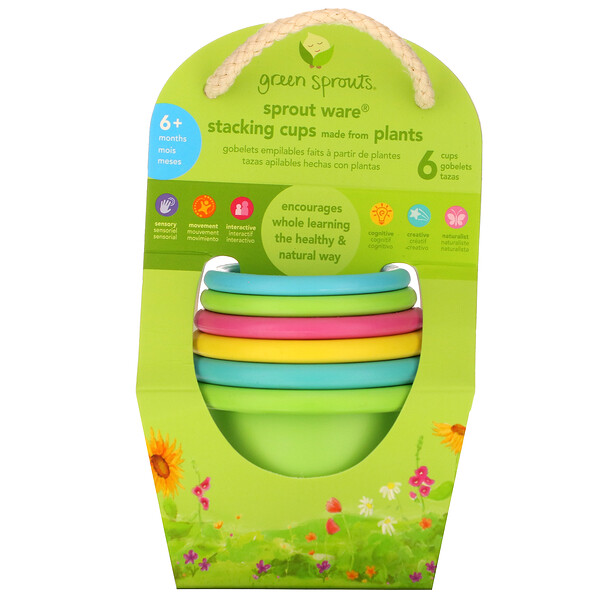 Sprout Ware Stacking Cups,  6+ Months, Multicolor, 6 Cups