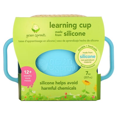 Купить Green Sprouts Learning Cup, 12+ Months, Aqua, 1 Cup, 7 oz (207 ml)