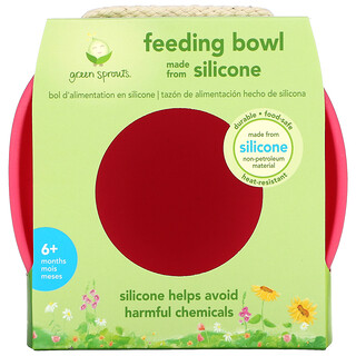 Green Sprouts, Feeding Bowl, 6+ Months, Pink, 1 Bowl