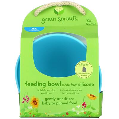 Green Sprouts Feeding Bowl, 6+ Months, Aqua, 1 Bowl, 7 oz (207 ml)