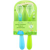 Green Sprouts, Feeding Spoons, 6-12 Months, Aqua, 2 Pack