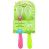 Green Sprouts, Feeding Spoons, 6-12 Months, Pink, 2 Pack