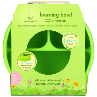 Green Sprouts, Learning Bowl, 9+ Months, Green, 1 Bowl