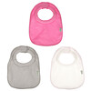 Green Sprouts, Stay Dry Milk Catcher Bibs, 0-6 Months, Pink Grey, 3 Pack
