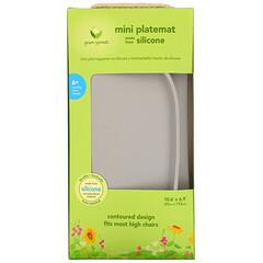 Green Sprouts, Mini Platemat, 6+ Months, Gray, 1 Mat