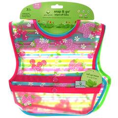 Green Sprouts, Snap & Go 搭扣式便攜圍嘴,適用於 9-18 個月嬰幼兒,3 件裝