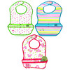 Green Sprouts, Snap & Go Wipe Off Bibs, 9-18 Months, 3 Pack