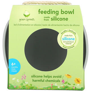 Green Sprouts, Feeding Bowl, 6+ Months, Gray, 1 Bowl