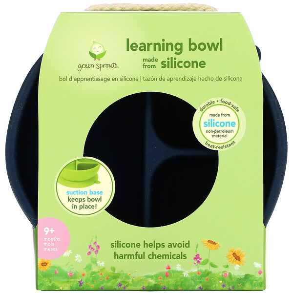 Learning Bowl, 9+ Months, Navy, 1 Bowl
