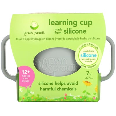 Купить Green Sprouts Learning Cup, 12+ Months, Gray, 7oz (207 ml)