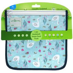 Green Sprouts, 可重用隔熱保鮮袋,6 個月以上,Aqua Swan,2 包