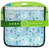 Green Sprouts, Reusable Insulated Sandwich Bags, 6+ Month, Aqua Swan, 2 Pack